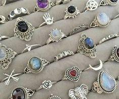 Grunge Jewelry, Funky Jewelry, Hand Jewelry, Hippie Jewelry, Cute Jewelry, Jewelry Rings, Jewelry Accessories, Jewelry Design, Crystal Jewelry