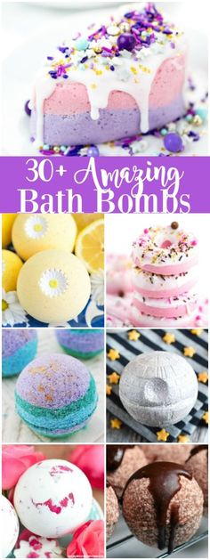 30+ Creative Bath Bombs - These amazing bath bomb recipes and tutorials make a great handmade gift for birthdays, holidays and Mother's Day.