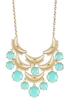 Bansri  Raishaa Filigree Enamel Bib Necklace