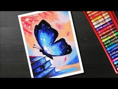New Music Drawings Easy Art Projects Ideas Oil Pastel Paintings, Oil Pastel Drawings, Music Drawings, Easy Drawings, Flower Sketches, Drawing Flowers, Painting Flowers, Art Sketches, Butterfly Drawing