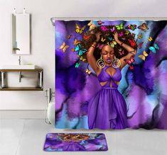 Trendy bathroom accessories purple home 55 Ideas Bathroom Shower Curtains, Bathroom Colors, Bathroom Ideas, Bathroom Renovations, Master Bathroom, Afro Shower Curtain, Neutral Bathroom, Ikea Bathroom, Classic Bathroom
