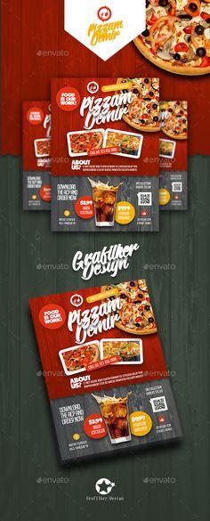 Burger Restaurant Flyer Template Vol