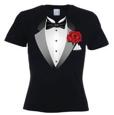 This black women's tuxedo t-shirt. Description from tribal-tshirts.com.