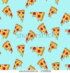 Pizza slice seamless pattern