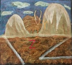 Letter Y for Yak and Z for Zig-Zagged path from the story of Yacket and Yako the Yaks and the Zig-Zagged path drawn by Kim Stuart, Roseway Waldorf school, KZN , South Africa