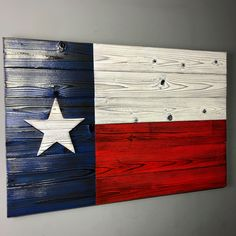 Wooden Texas Flag Handmade Rustic - Burnt Wood Flag of Texas for Indoor or Outdoor - Texas Gift for Decor Texas Gifts, Burnt Wood, Cedar Boards, Wood Flag, Texas Flags, Wall Anchors, True Art, Japanese Buildings, Charred Wood