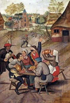 Pieter Brueghel - The Servants Breakfast After The Wedding - art prints and posters