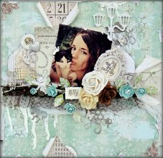 Pretty Kitty Layout for CSI and OUAS - Scrapbook.com