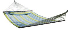 "Camping Furniture :""SueSport HC011-B/G Hammock Quilted Fabric with Pillow : Blue/Green"" * Find out more details by clicking the image"