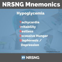 Nursing Mnemonics Podcast Ep49 Hypoglycemia (TIRED) https://www.nrsng.com/ep47-hyperglycemia-hypoglycemia/?utm_campaign=coschedule&utm_source=pinterest&utm_medium=NRSNG&utm_content=Ep49%20Hypoglycemia%20%28TIRED%29