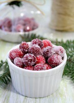 Vanilla Orange Candied Cranberries