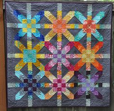 finished supernova quilt
