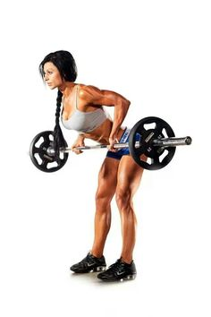Reverse grip Bend over barbell row MoreReverse Grip Barbell Row