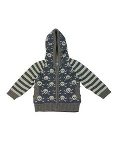 Look what I found on #zulily! Wippette Blue Crossbones Zip-Up Hoodie - Infant & Toddler by Wippette #zulilyfinds