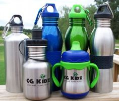 stainless steel - the way to go for water bottles...