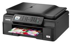 The Brother MFC-J470DW delivers cloud printing from mobile devices, business-friendly accessories like double-sided printing, lightning fast output speeds and cheaper-than-average ink refills.