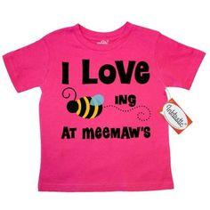 Inktastic MeeMaw's House Bee Toddler T-Shirt Meemaw Gift From Grandchild Grandkids Meemaw's I Love Beeing At Visiting Kids Honey Mee Maw Grandma Grandmother Grandparents Family Tees. Child Preschooler Kid Clothing Apparel Hws, Size: 4T, Pink