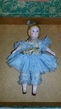 "Vintage 1940's Ruth Gibbs China Godey's Little Lady Dolls ""Swan Lake Ballet"" 53 | eBay"