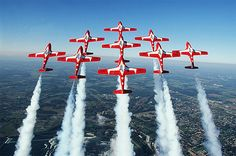 "Officially known as the Royal Canadian Air Force's 431 Air Demonstration Squadron, the Snowbirds are Canada's military aerobatics or air show flight demonstration team whose purpose is to ""demonstrate the skill, professionalism, and teamwork of Canadian Forces personnel"". The squadron is based at CFB Moose Jaw, near Moose Jaw, Saskatchewan. The Snowbirds are the first Canadian air demonstration team to be designated as a squadron."