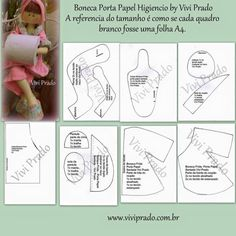 Discover thousands of images about Marlene Arteira: Boneca porta papel higiênico com molde.Marlene Arteira: Toilet paper holder with mold.Crafts: Make and Sell: Toilet paper holder dollDiscover thousands of images about Lojinha da Vivi - Vivi Prado Doll Clothes Patterns, Doll Patterns, Sewing Patterns, Hobbies And Crafts, Diy And Crafts, Diy Toilet Paper Holder, Paper Holders, Sewing Crafts, Sewing Projects