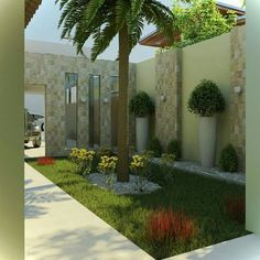 Modern Landscape Design, Modern Landscaping, Outdoor Landscaping, Front Yard Landscaping, Backyard Pavilion, Backyard Fences, Back Gardens, Outdoor Gardens, Vertical Garden Design