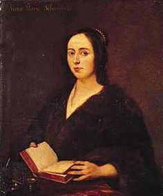 Anna Maria van Schurman (November 5, 1607–May 4/May 14, 1678) was a German-Dutch painter, engraver, poet and scholar. Highly educated woman by seventeenth century standards, she excelled in art, music, and literature, becoming proficient in 14 languages (including contemporary European languages): Latin, Greek, Hebrew, Arabic, Syriac, Aramaic, and Ethiopian.