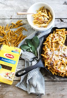 My easy pumpkin and sausage baked ziti made using Barilla ProteinPLUS pasta is the perfect dish to make any night of the week! #ad #BarillaProteinPLUS