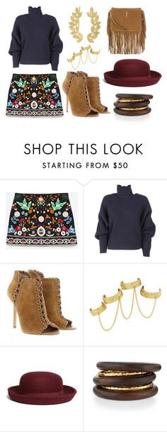 """""""Mid week Dinner dates"""" by thefoxeffect ❤ liked on Polyvore featuring Balenciaga, Michael Kors, House of Harlow 1960, Brooks Brothers, NEST Jewelry, Eddera, YSL, Sweater, zara and MINISKIRT"""
