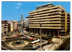 ruas da minha terra - Porto: Praça D. João I Porto City, Porto Portugal, Douro, Portuguese, Terra, Building, Places, Brainstorm, Old Photographs