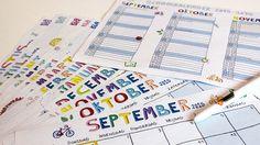 SCHOOLKALENDER: Een Kalender voor het schooljaar 2015-2016. Met vrolijke tekeningen en handige data. Plaats genoeg voor al jouw wilde plannen!