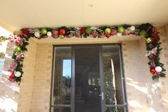 Christmas garland for your front door  step by step