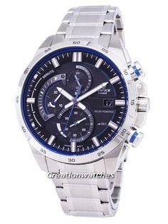 Casio Edifice Solar 3D Dial Power Reserve EQS-600D-1A2 EQS600D-1A2 Men's Watch Casio Edifice, Stainless Steel Bracelet, Casio Watch, Watches For Men, Solar, 3d, Accessories, Men's Watches, Jewelry Accessories