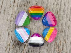LGBT Pride Lapel Pins Ace Trans Genderqueer Gay by DapperandSwag. Ropa Color Pastel, Lgbt Memes, Pansexual Pride, Genderqueer, Lgbt Community, Rainbow Pride, Gay Pride, Lapel Pins, Transgender