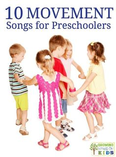 10 movement songs for preschoolers, perfect for brain breaks and getting the wiggles out! Kindergarten Songs, Preschool Songs, Preschool Learning, Kids Songs, Teaching, Brain Breaks For Kindergarten, Early Learning, Gross Motor Activities, Toddler Activities
