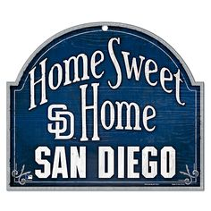 San Diego Padres Home Sweet Home Wood Sign