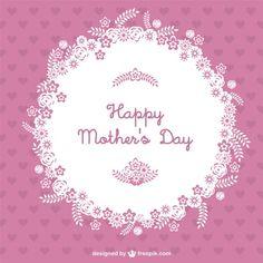 Vetor dia das mães feliz