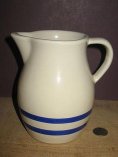 RRP Stoneware 1 Quart Pitcher Williamsburg Pattern from manylittle on Ruby Lane