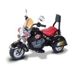 Kids Ride On Electric Scooter Motorbike Motorcycle 6V Chopper 3-6 Year Black/Red #KidsRideOnElectricScooter