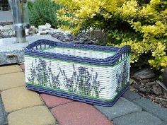 Jana Dubravska Art N Craft, Diy Projects To Try, Outdoor Furniture, Outdoor Decor, Wicker Baskets, Newspaper, Decoupage, Weaving, Workshop