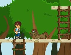 Diego must rescue the baby from the Zoo. He is trapped in all those cages with the wild animals and you have to go in there, get your hands dirty but complete all the missions in this fun adventure game.