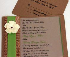 Burlap Wedding Invitations, DIY