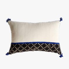 Our Cross Star Lumbar Pillow Cover from Ich Cha will add a relaxed, boho vibe to any decor. Block printed on hand spun and woven khadi cotton.