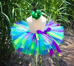 Purple turquoise and lime green tutu. www.stylotutuboutique.com #stylotutuboutique #purpletutu #turquoisetutu #tlimegreentutu #colorfultutu  #tutu #handmade