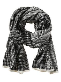 black + white scarf | banana republic