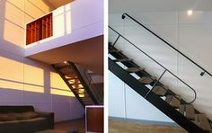 le corbusier apartment-- unite de habitation, with jean prouve stair