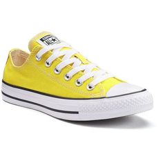 Adult Converse All Star Chuck Taylor Sneakers (920 MXN) ❤ liked on Polyvore featuring shoes, sneakers, med yellow, converse shoes, rubber shoes, yellow sneakers, unisex sneakers and grip shoes