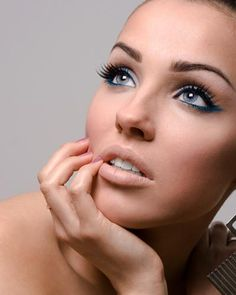 nude lips and standout eyes