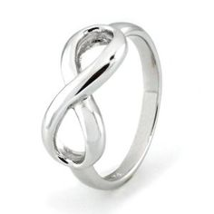 #4: Sterling Silver Infinity Ring - Available Size: 4, 4.5, 5, 5.5, 6, 6.5, 7, 7.5, 8, 8.5, 9, 9.5, 10