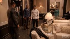 Lucious Lyon Mansion living room on Empire the morrocan wall sconce on left