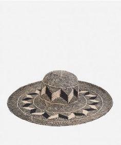 Tribal Print Hat Raffia Hat b668499e570f